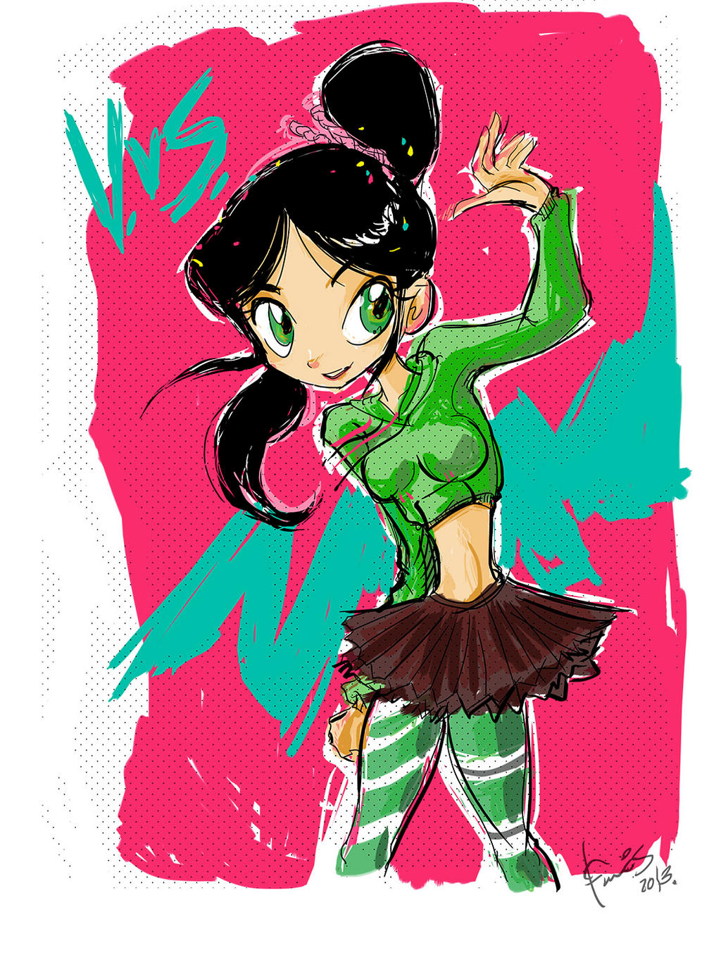 Vanellope Von Schweetz teen version by favius