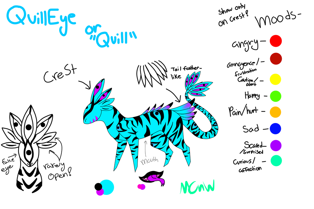 Quill Ref by midnightclawsnwings