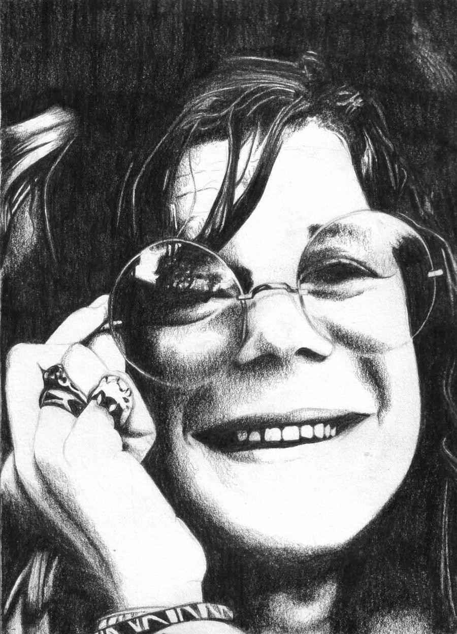 It's just a photo of Priceless Janis Joplin Drawing