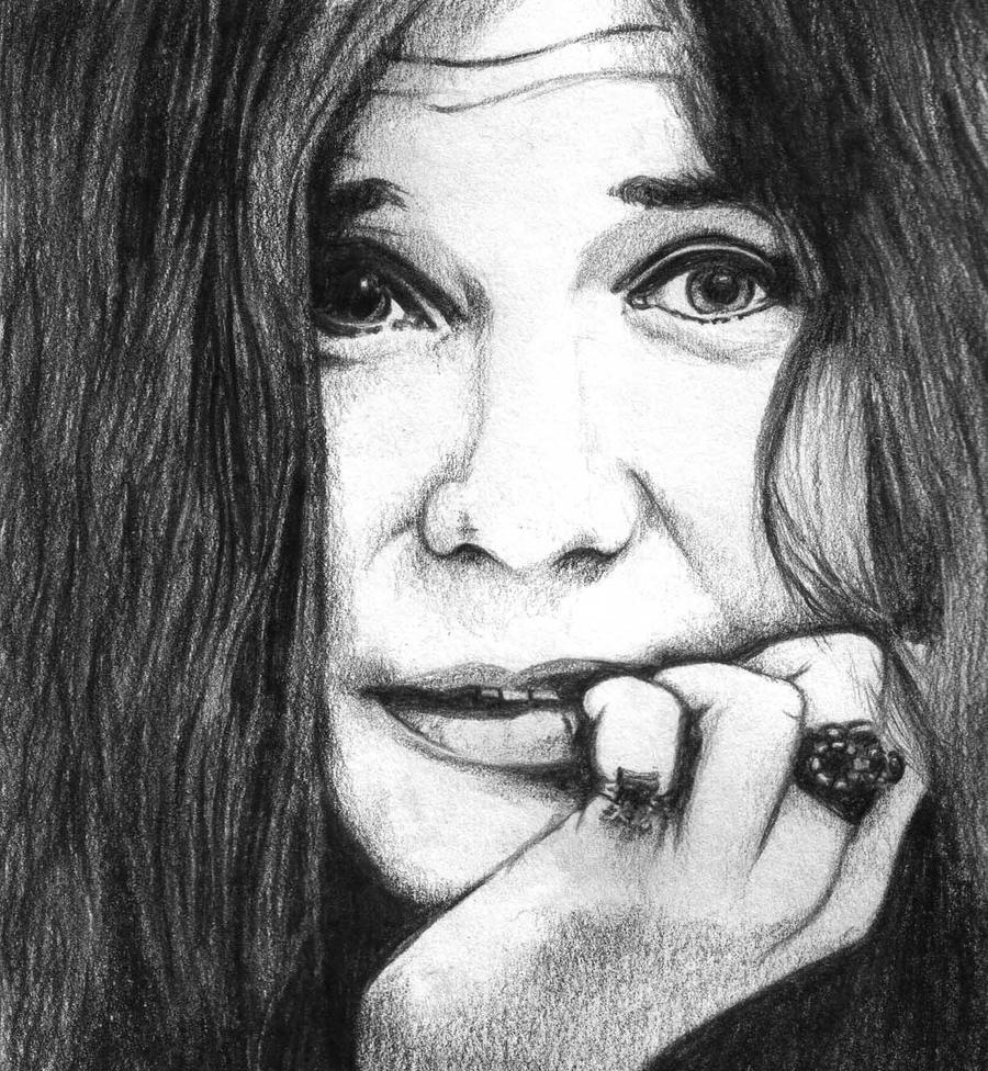 This is a picture of Inventive Janis Joplin Drawing