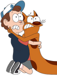 Dipper Pines and Cat (from CatDog)
