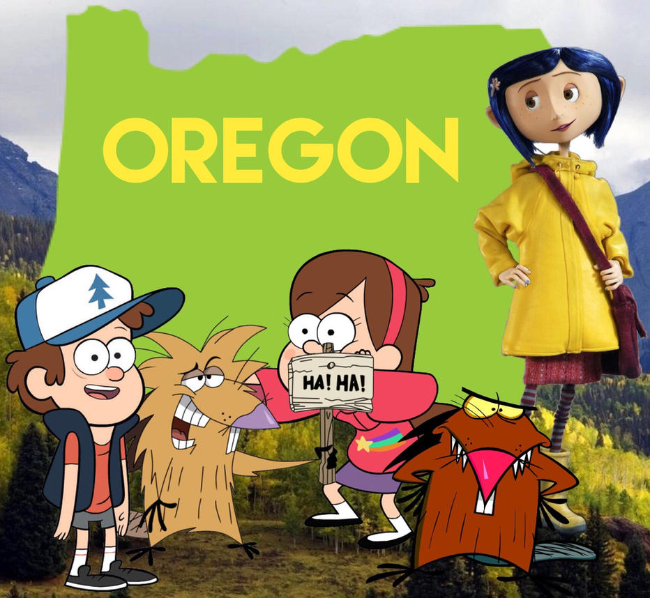 Cartoon Characters from Oregon  by Luxojr888