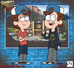 Dipper Pines, '90s AU (Grunge) by Luxojr888