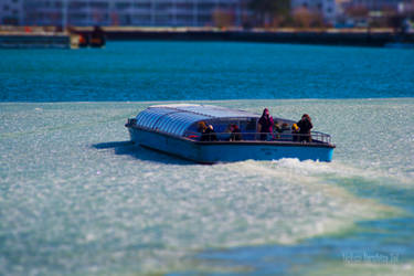 Boat-Trip on Ice with Tilt-Shift