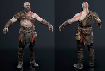 God of War - Kratos by luxox005