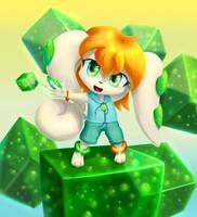 Milla, the summoner of cubes