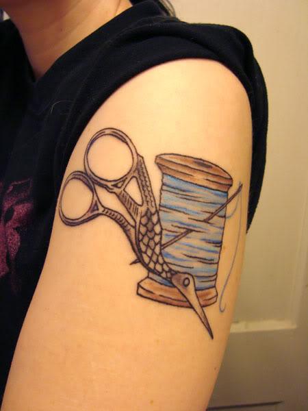 Sewing tattoos on pinterest scissors tattoo scissor for Sewing needle tattoo