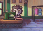 Sable at Her Sewing Machine - ACNL