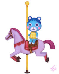 Merry-Go-Round Bluebear by pancakesandhalibut