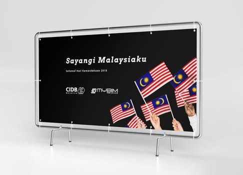 Banner - Merdeka: Sayangi Malaysiaku