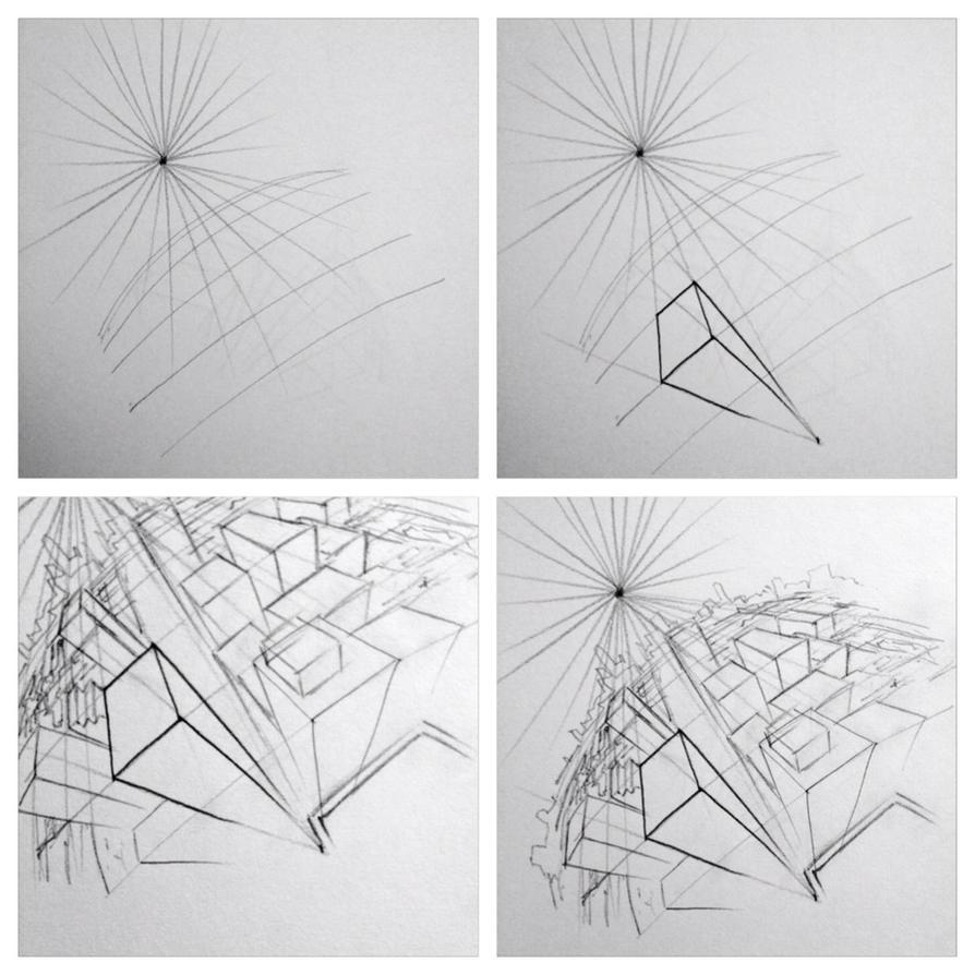 Fisheye lens perspective tutorial by StudioCombine on DeviantArt
