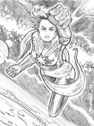 Brie Larson as Captain marvel by StudioCombine