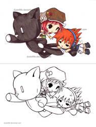 Shiki, Neku, and 'pig' by dustoflife