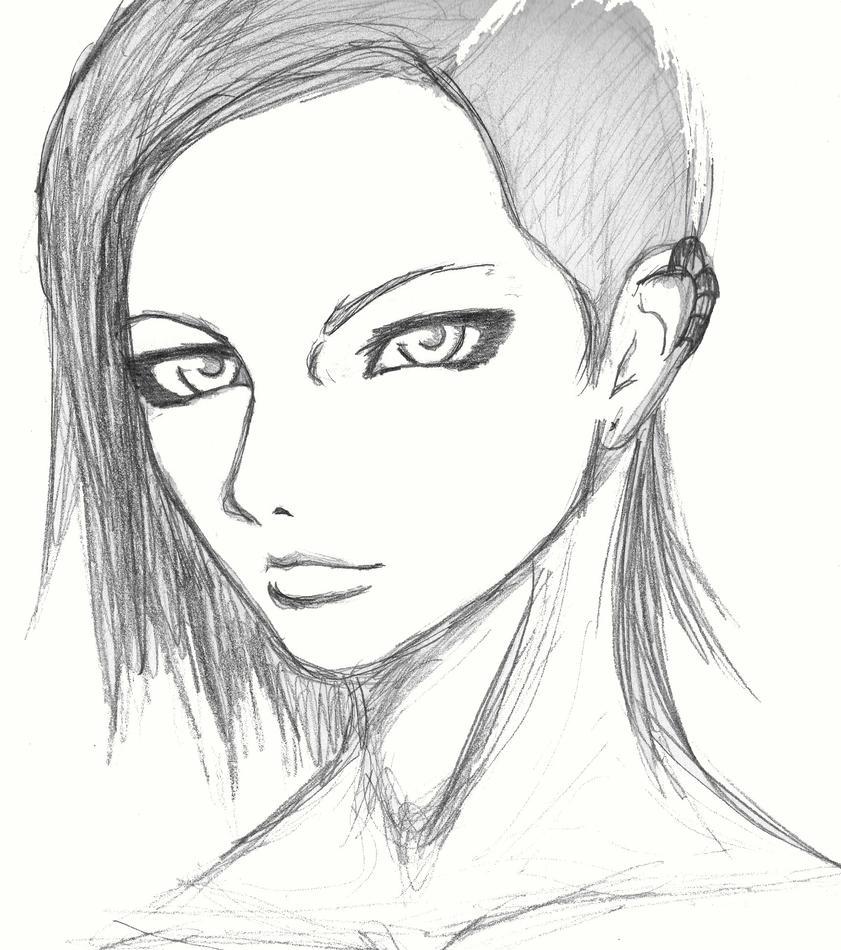 Punk Girl Drawing By Okami No Chi On Deviantart