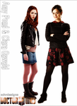 Amy Pond and Clara Oswald Poster