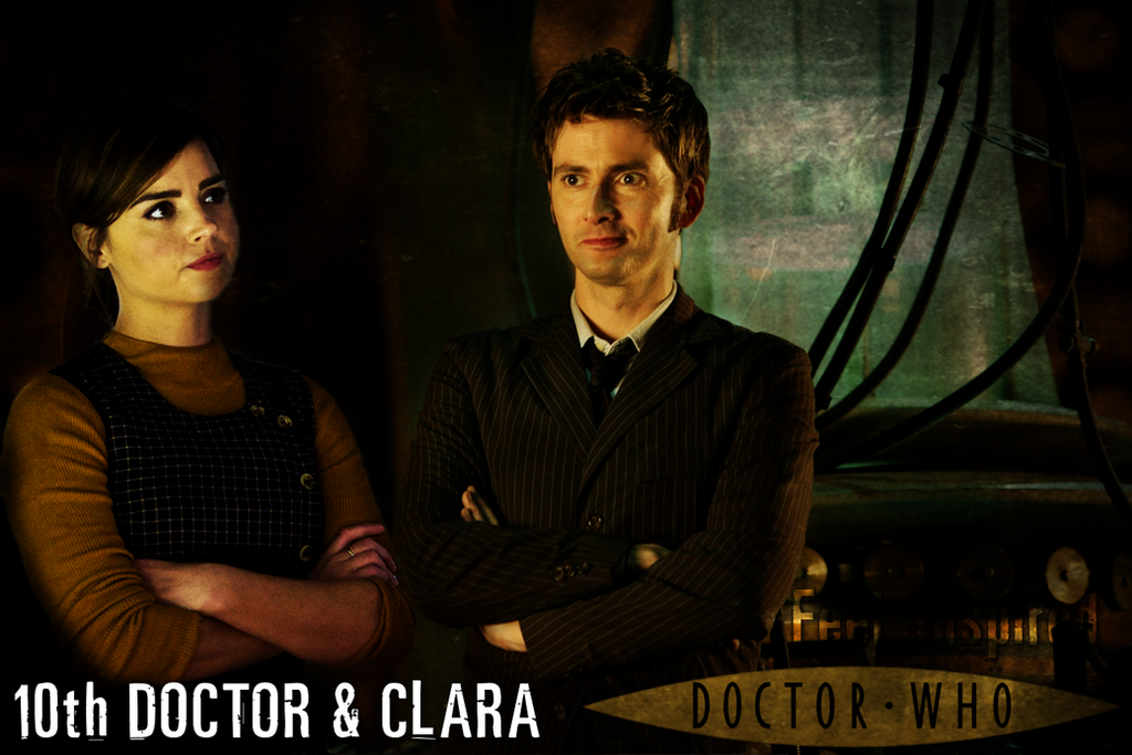 Clara Oswald and The 10th Doctor Poster by feel-inspired