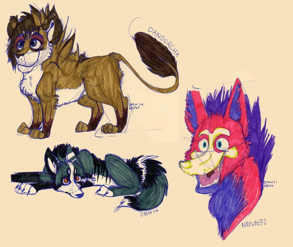 Doodles: Part 1 by ServalTiger