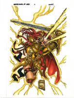 Areala: Angel of War #3 CVR by lummage