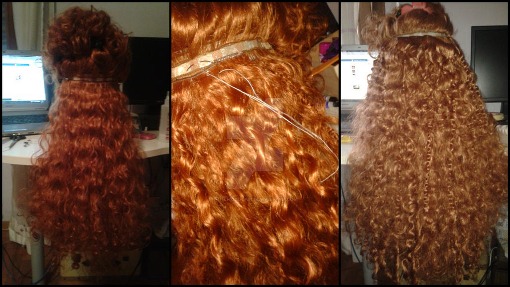 [WIP] Merida's Wig (part 2) by ThePiccolaPi