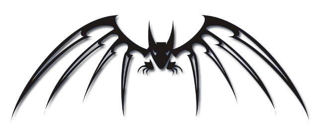 tribal bat xcynix357 by tattooflash on deviantart. Black Bedroom Furniture Sets. Home Design Ideas