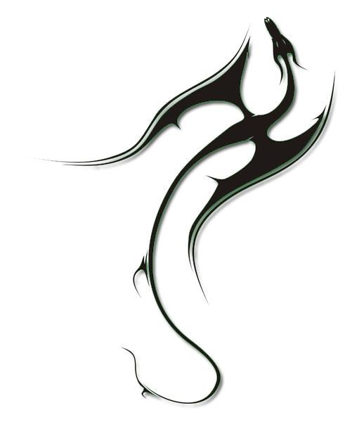 Tribal Dragon -27- by tattooflash
