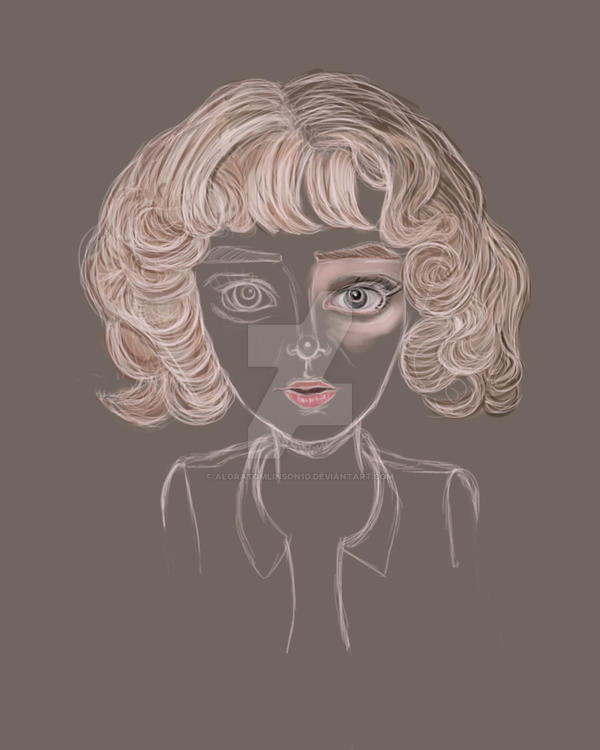 unfinished big eyes by AloraTomlinson1D