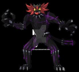 Incineroar as Black Panther