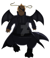 Dragonite as Nick Fury