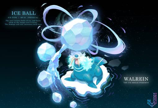 Walrein performing Ice Ball