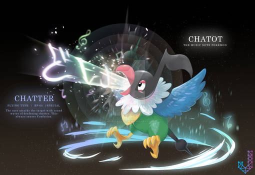 Chatot performing Chatter