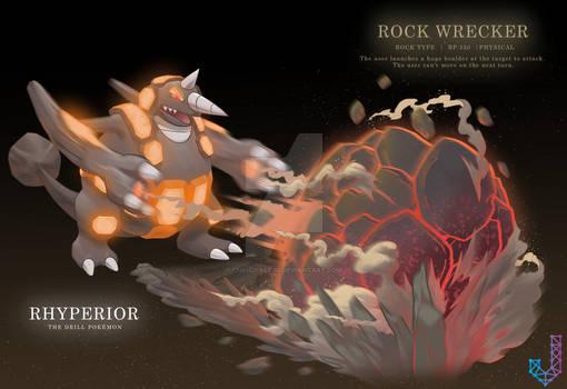 Rhyperior performing Rock Wrecker