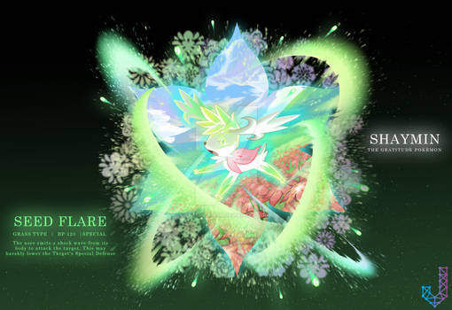 Shaymin performing Seed Flare
