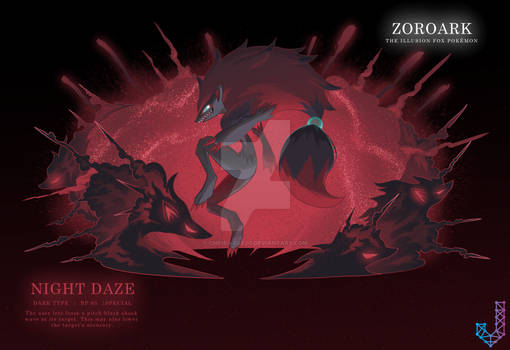 Zoroark performing Night Daze