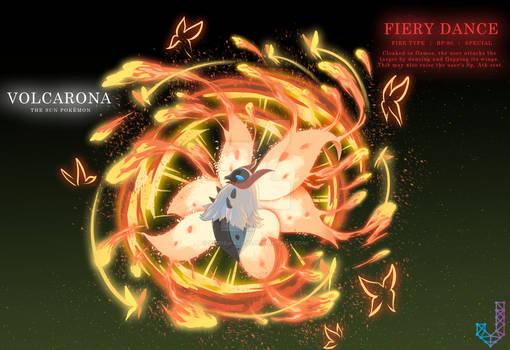 Volcarona performing Fiery Dance