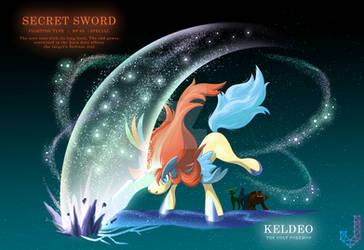 Keldeo performing Secret Sword