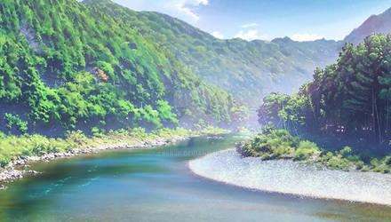 Japanese Mountain Landscape