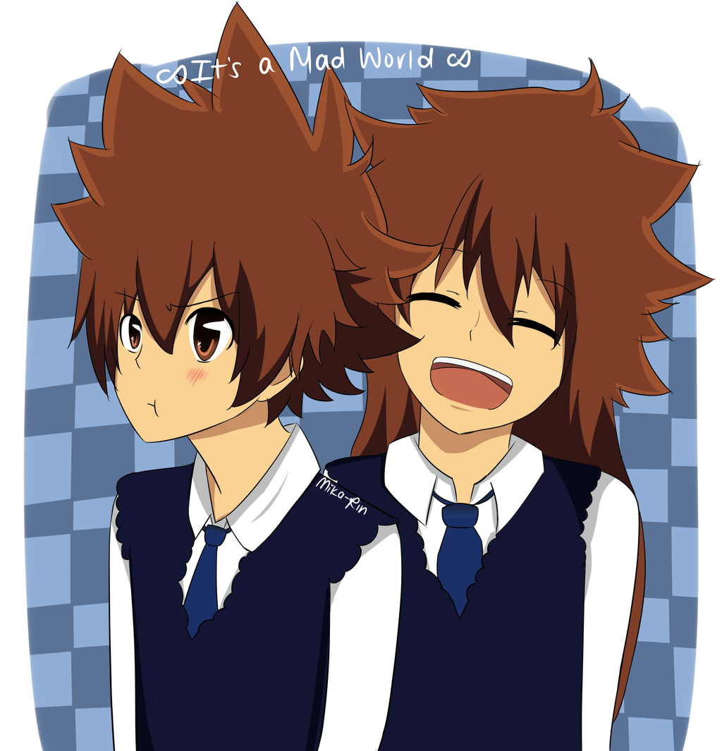It's a Mad World - Tsuna and Tsuya by Mika-Rin