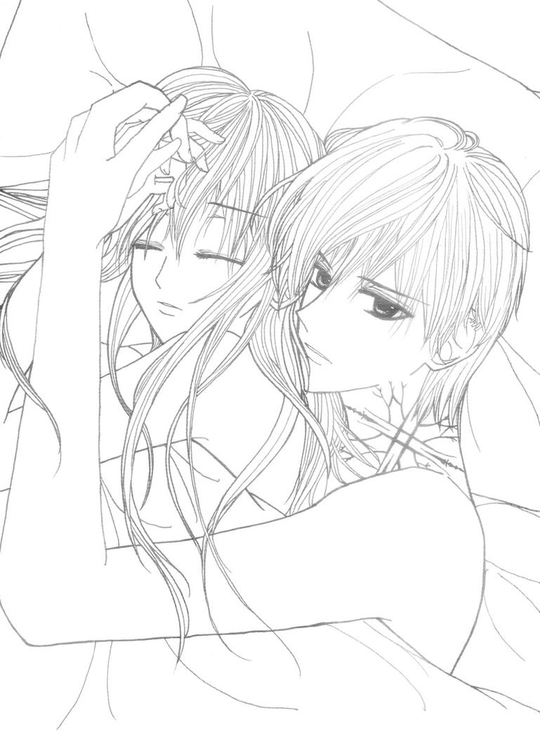 Cute Anime Couple Hugging Coloring Pages Anime Couples Coloring Pages