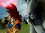 SSJG Goken vs Omega Shenron (The Legend of Goken)
