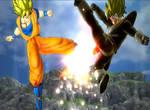 SSJ Goken vs SSJ Arrot (The Legend of Goken)