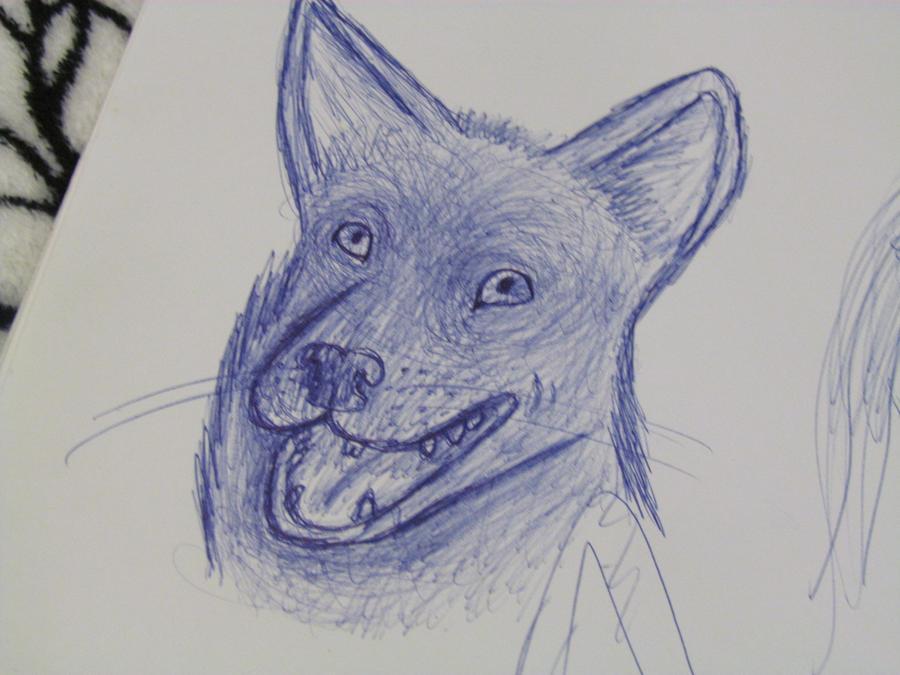 Ink Dog by SaphireWolfezz