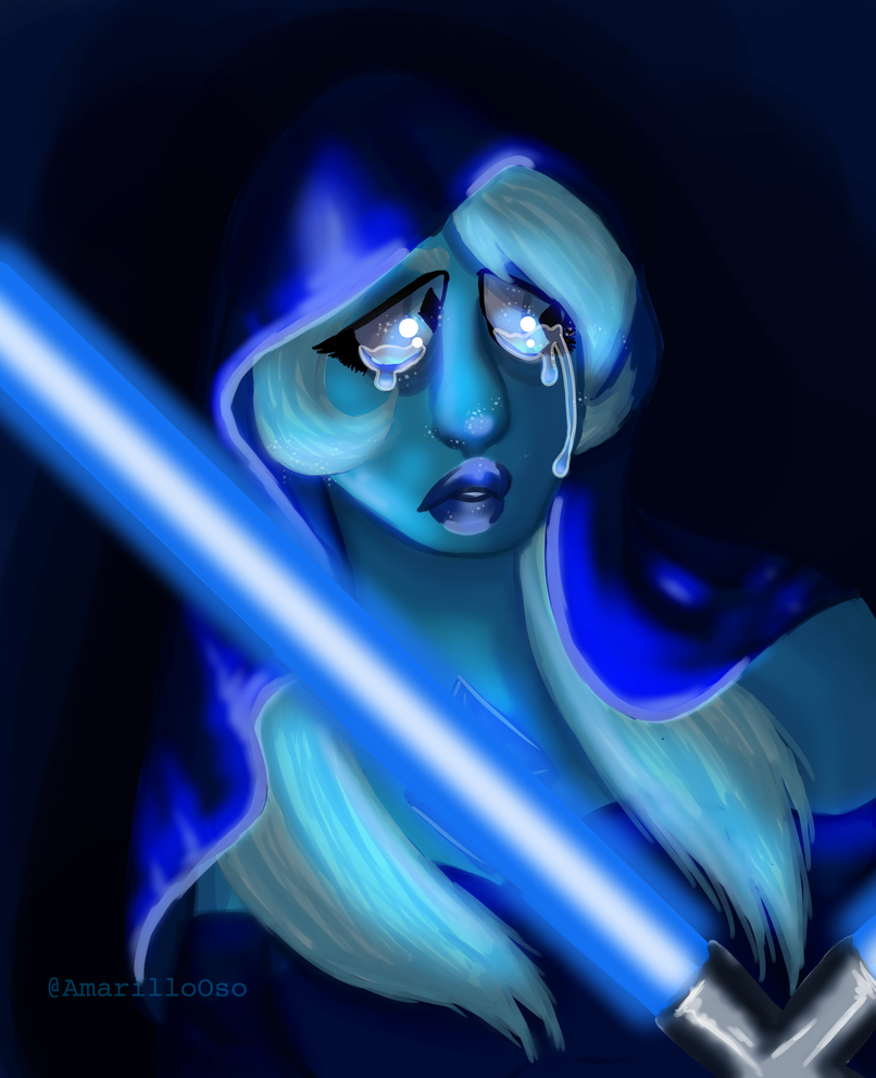 My friends and I are hyped about the new Steven Universe episodes, and I mentioned something about Blue Diamond being a sith lord, and then this garbage right here became a thing. ---------- Blue D...