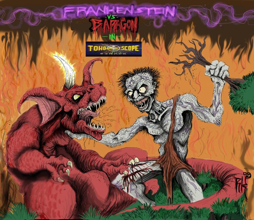 Frankenstein Vs Baragon Frankenstein-vs-baragon byFrankenstein Conquers The World Baragon