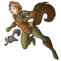 Squirrel Girl by Hyaroo