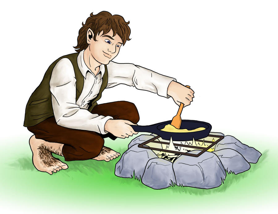 Halfling Campfire Cooking By Hyaroo