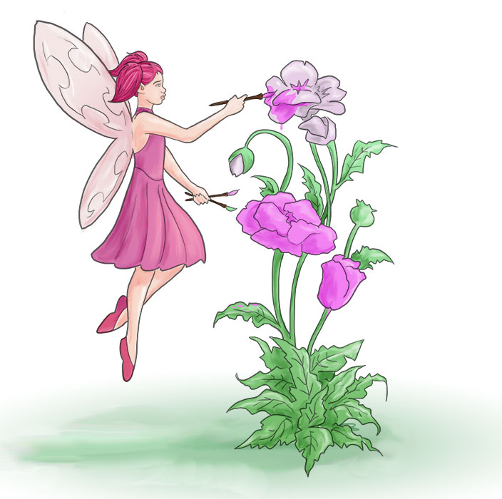 Fairy Painting Flower by Hyaroo on DeviantArt