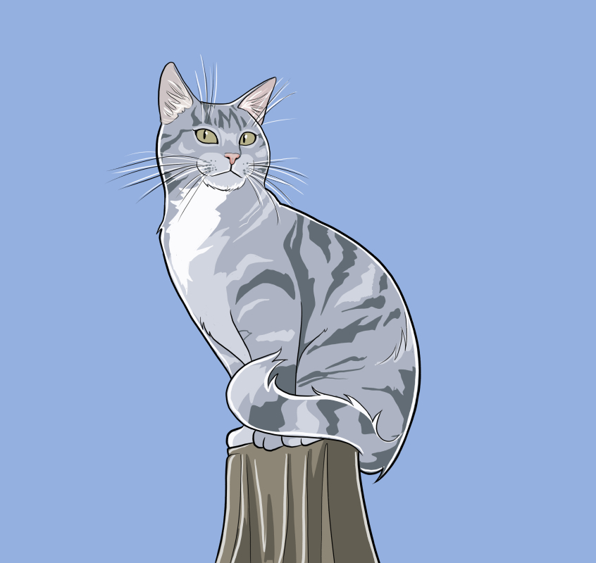 Cat On A Pole by Hyaroo