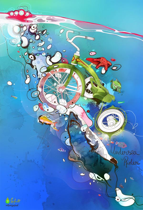 Tutoriais Illustrator 10 Ilustradores que Você Deveria Conhecer Under_sea_rider_by_saltyshadow