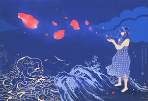 Petal Girl by saltyshadow