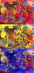 super hug crazy colors by saltyshadow